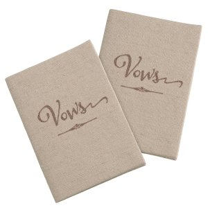 Set of 2 Tan Vows Books image