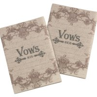 Set of 2 Tan His &Her Vows Books