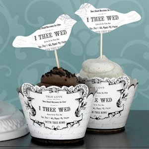 True Love Birds Cupcake Picks (Set of 12) image