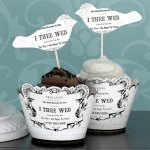 True Love Birds Cupcake Picks (Set of 12)