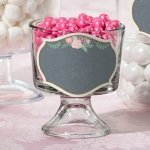 Shabby Chic Black and Pink Glass Cling (Set of 12)