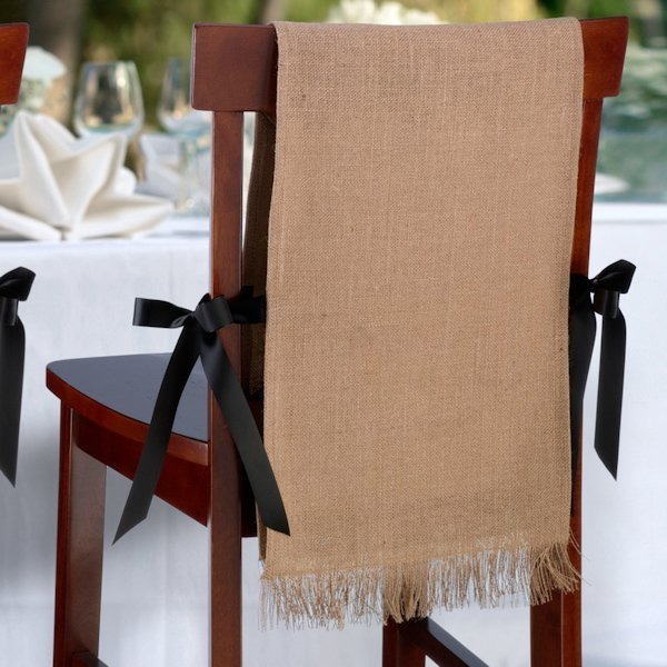 Admirable Burlap Chair Covers Set Of 2 Pabps2019 Chair Design Images Pabps2019Com