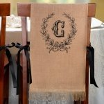 Burlap Chair Covers (Set of 2 - 5 Design Options)