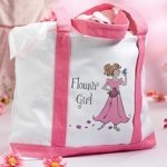 Large Flower Girl Canvas Tote