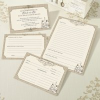 Tan Bridal Shower Recipe Cards (Set of 24)