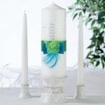 Vibrant Blue & Green Candle Set