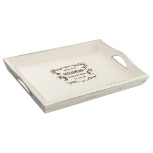 Antique White Wedding Tray (7 Personalized Designs) image