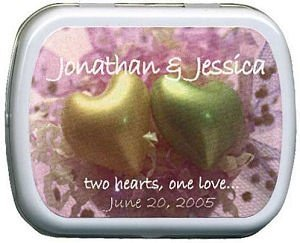 Filled Two Hearts - One Love Mint Tin image