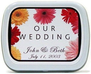 Filled Colorful Flower Our Wedding Mint Tin image