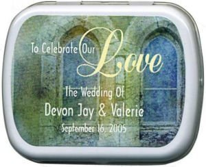 Filled Our Wedding Church Window Mint Tin image