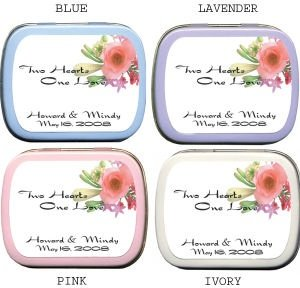 Filled Two Hearts One Love - Floral Mint Tin image