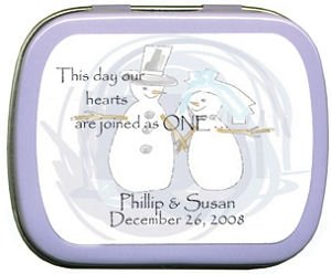 Filled Winter Snowman Couple Mint Tin image