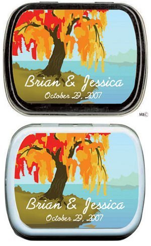 Filled Fall Colored Weeping Willow Mint Tins image
