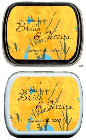 Filled Bright Yellow Tree Mint Tins image