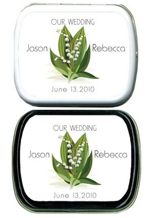 Filled Our Wedding Lily of the Valley Mint Tins image