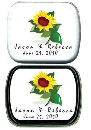 Filled Sunflower Personalized Mint Tin image