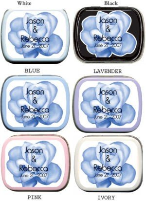 Filled Blue Rose Mint Tins (2 Label Colors) image