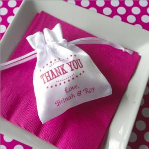 Personalized Small Satin Favor Bag image