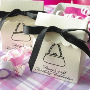 Personalized Stardream Scalloped Favor Bag image
