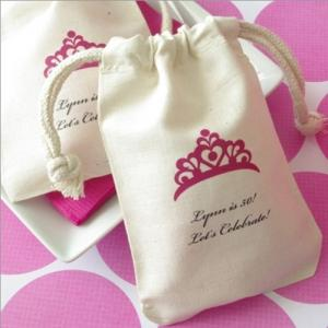 Large Muslin Party Favor Bag image