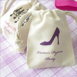 Small Muslin Party Favor Bag image