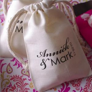 Large Monogram Muslin Favor Bag image