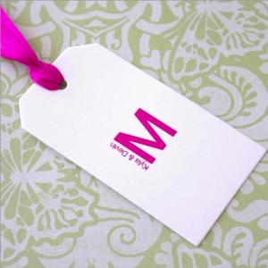 Monogram Rectangle Favor Tags image