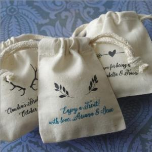 Rustic Emblems Personalized Small Muslin Bag image