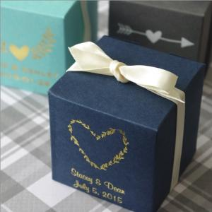 Rustic Emblems Personalized Basic Cube Favor Box image