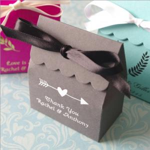 Rustic Emblems Personalized Basic Scallop Favor Box image