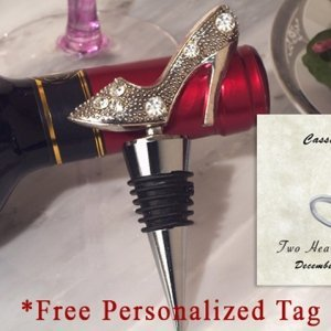 Personalized Dazzling Divas Collection Shoe Wine Stopper image