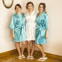 Personalized Satin Robe with Flip Flop Set (3 Colors)