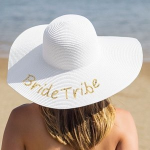 Gold Sequin Bride Tribe Sun Hat image