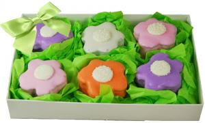 Brownie Bites - Flowers Gift Box of 6 image