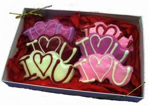 Hand Dec. I Love You Cookies Gift Box image