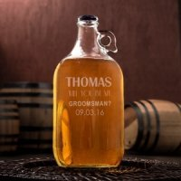Personalized Will You Be My Groomsman/Best Man Growler