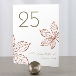 Autumn Leaf Table Number Cards (12 Colors) image