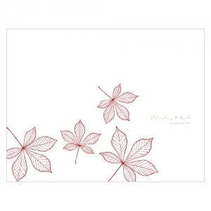 Personalized Autumn Leaf Program Paper (12 Colors) image