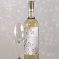 Autumn Leaf Custom Wedding Wine Labels (Set of 8)