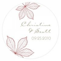 Personalized Autumn Leaf Stickers (12 Colors)