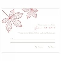 Autumn Leaf RSVP Cards (Set of 8 - 12 Colors)
