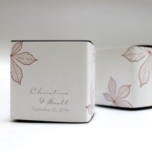 Autumn Leaf Cube Favor Box Wrap (Set of 20) image