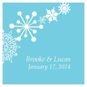 Square Winter Finery Favor Tag (20 Pack - 9 Colors) image