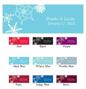 Winter Finery Small Rectangular Tags (Set of 20) image