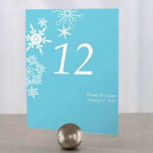 Winter Finery Table Number Cards (9 Colors) image