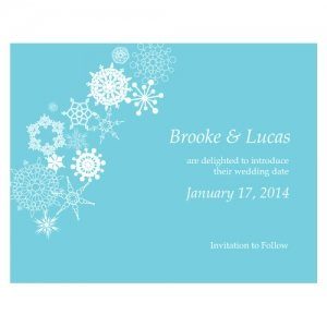 Winter Finery Save the Date Cards (Set of 8) image