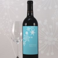 Winter Finery Wine Bottle Labels (Set of 8 - 9 Colors)
