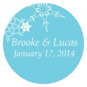 Personalized Winter Finery Stickers (9 Colors) image