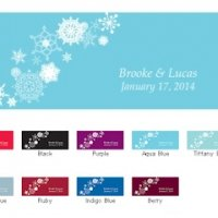 Winter Finery Window Cling (2 Sizes - 9 Colors)