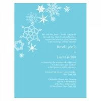 Winter Finery Wedding Invitations (4 Pack - 9 Colors)
